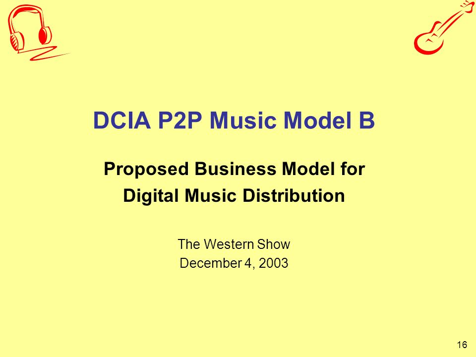 Proposed Business Model for Digital Music Distribution
