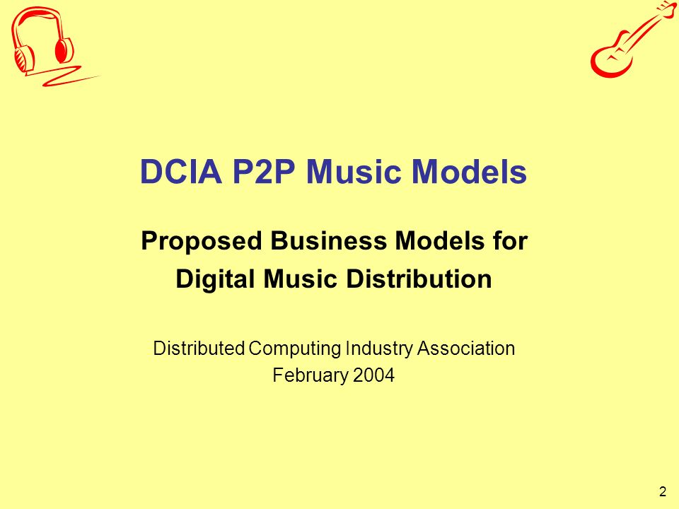 Proposed Business Models for Digital Music Distribution