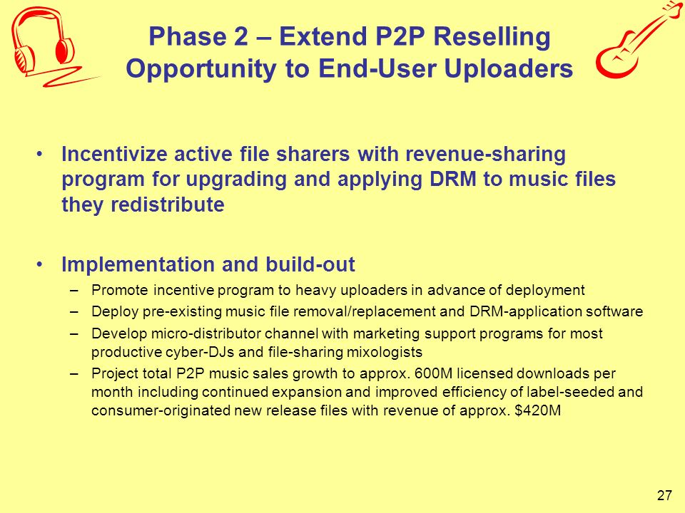 Phase 2 – Extend P2P Reselling Opportunity to End-User Uploaders