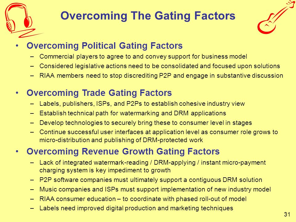 Overcoming The Gating Factors
