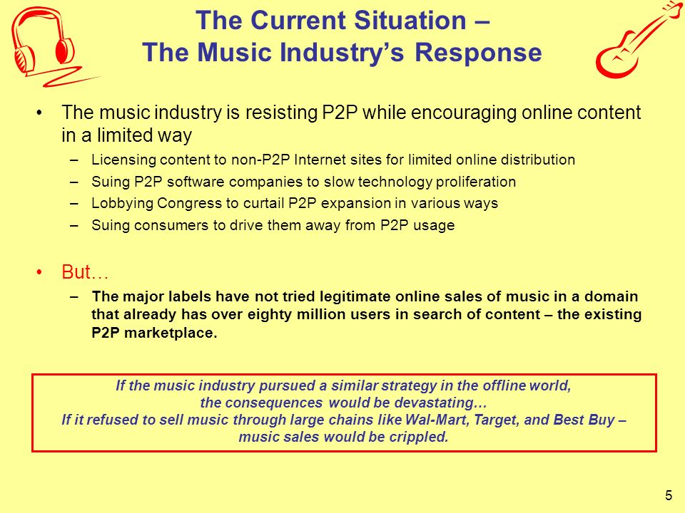 The Current Situation – The Music Industry's Response