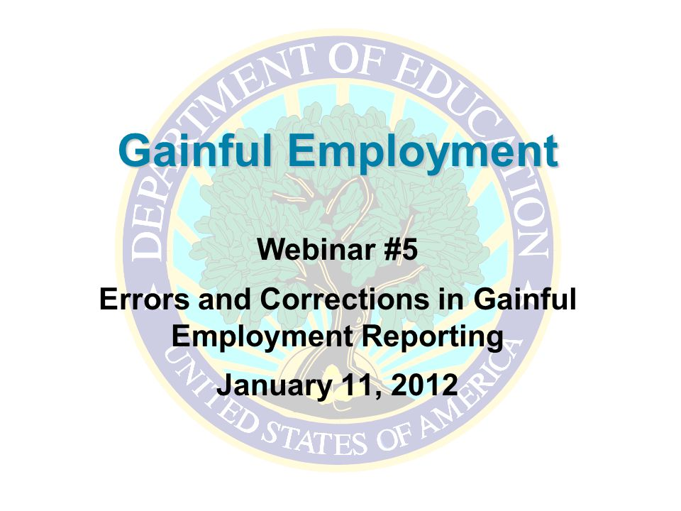 Errors and corrections in gainful employment reporting ppt video errors and corrections in gainful employment reporting maxwellsz