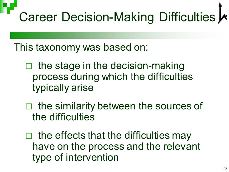 Career decision making essays