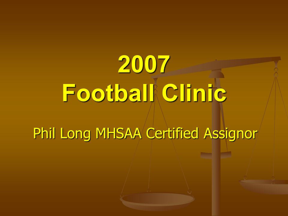 Phil Long MHSAA Certified Assignor