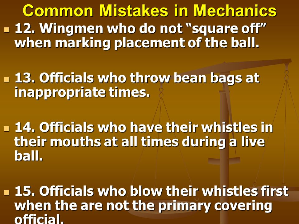 Common Mistakes in Mechanics