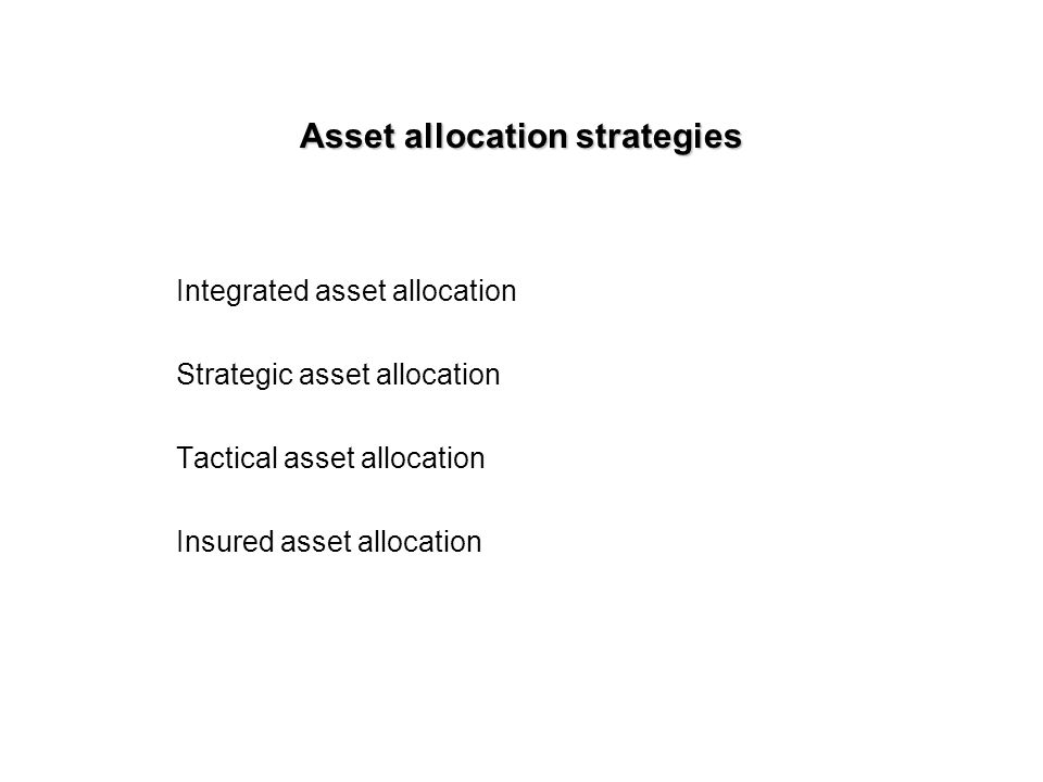 tactical asset allocation strategies pdf