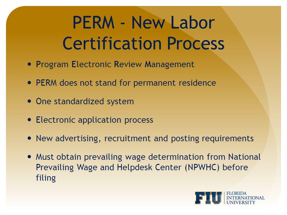 Perm audit processing time