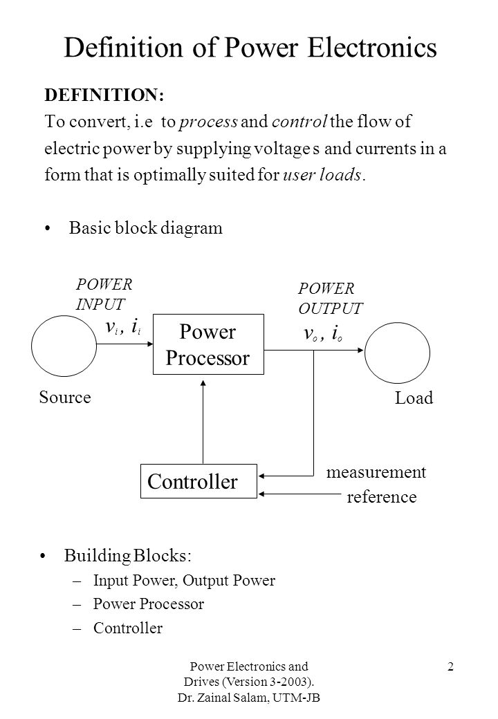 Definition of Power Electronics