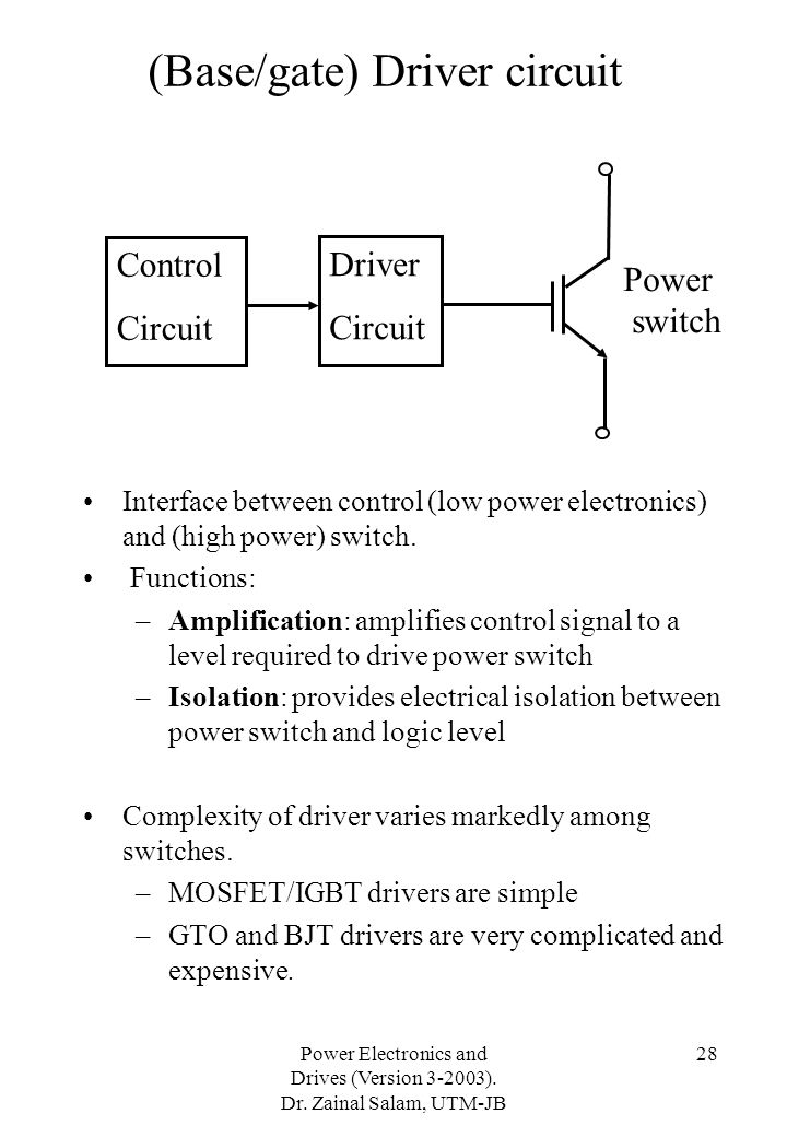 (Base/gate) Driver circuit
