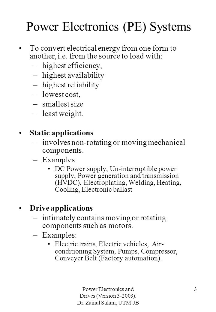 Power Electronics (PE) Systems