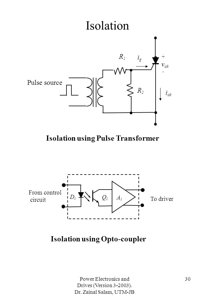 Isolation Isolation using Pulse Transformer