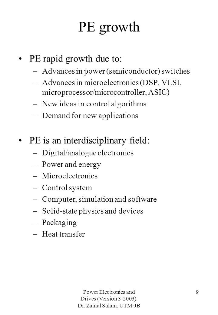 PE growth PE rapid growth due to: PE is an interdisciplinary field: