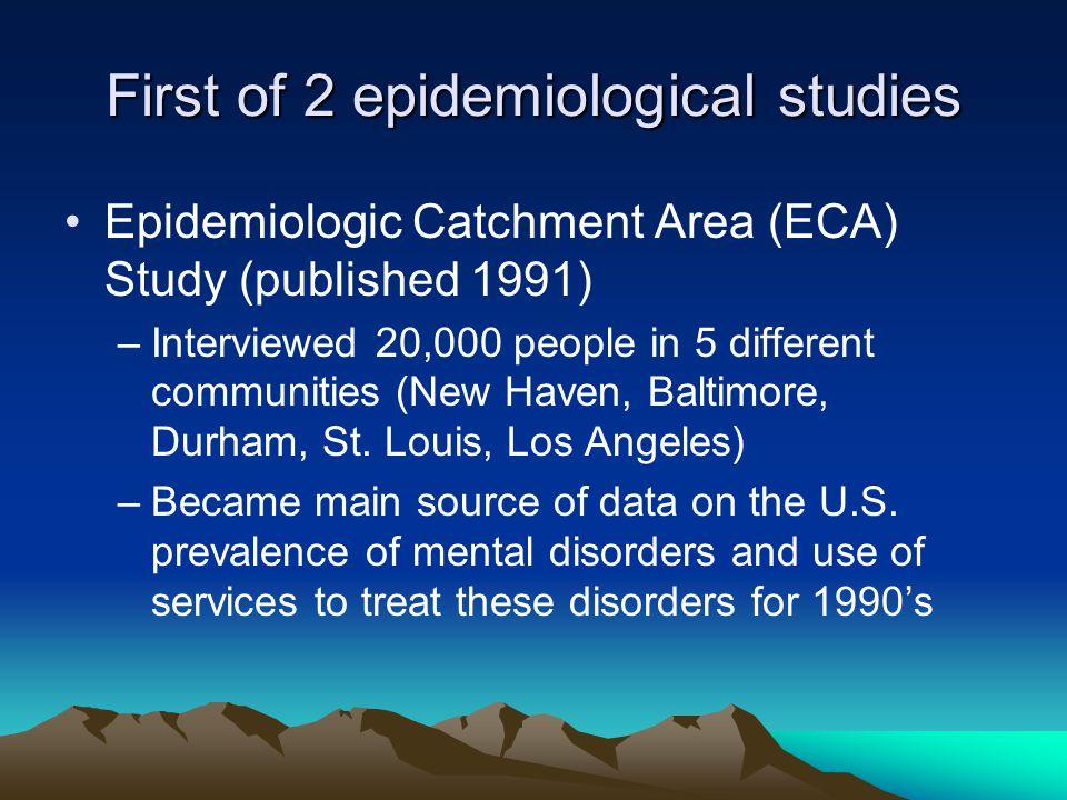 Epidemiologic Catchment Area (ECA) Survey of Mental ...
