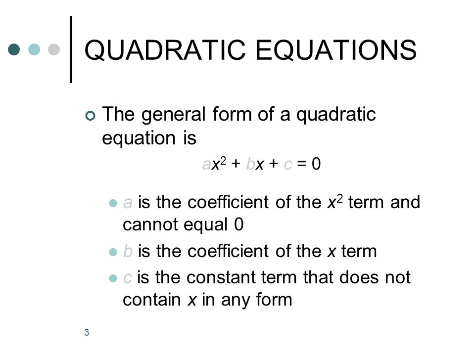 Unit 18 QUADRATIC EQUATIONS. - ppt video online download