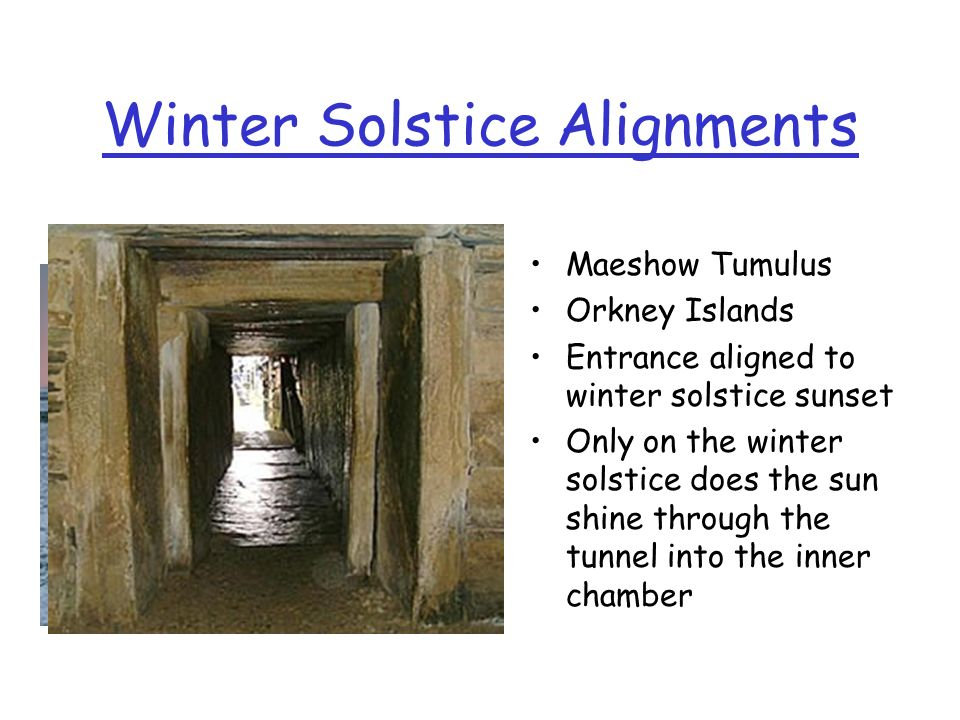 Winter Solstice Alignments