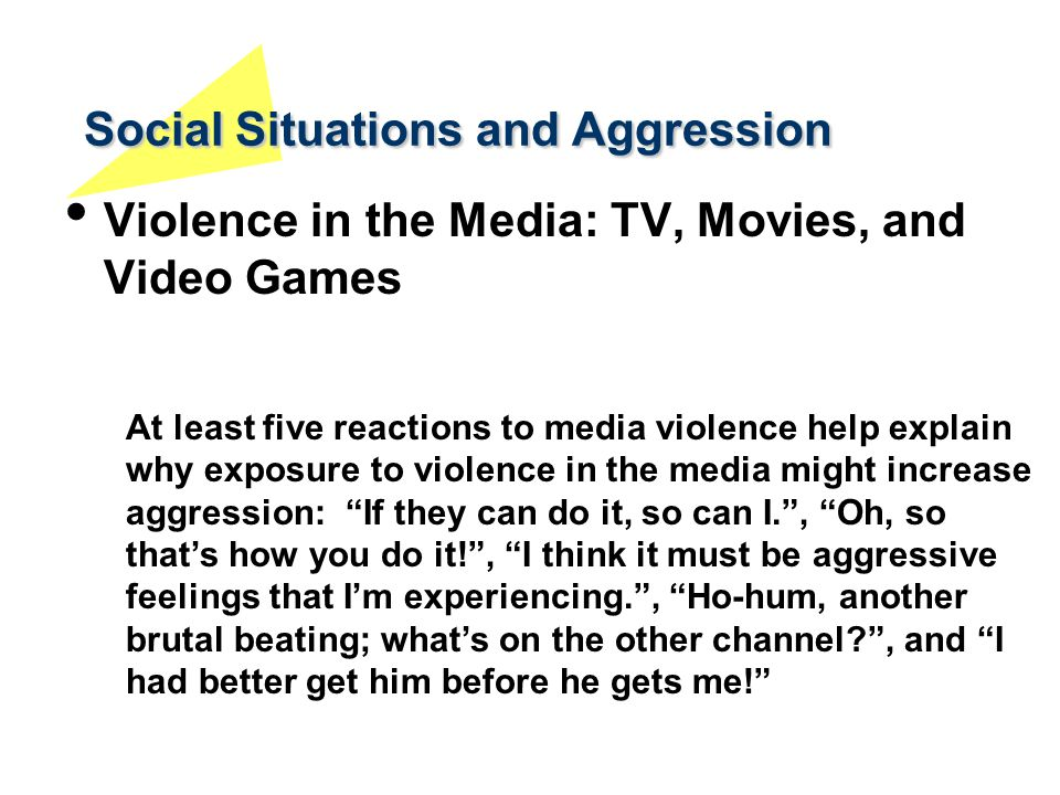 Media violence and aggression