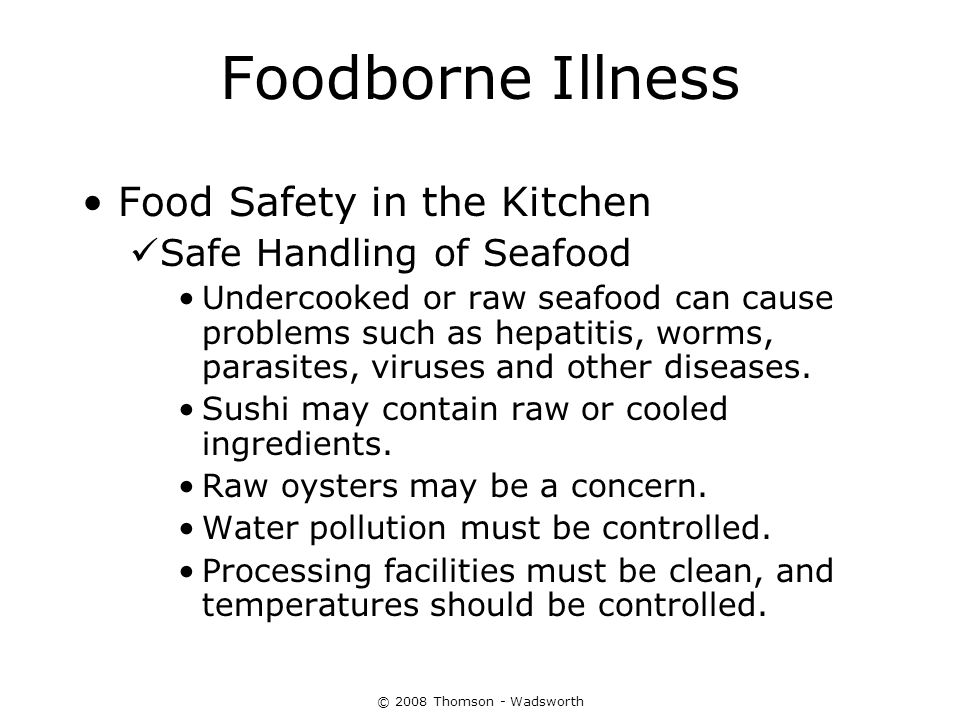Consumer Concerns About Food And Water Ppt Download