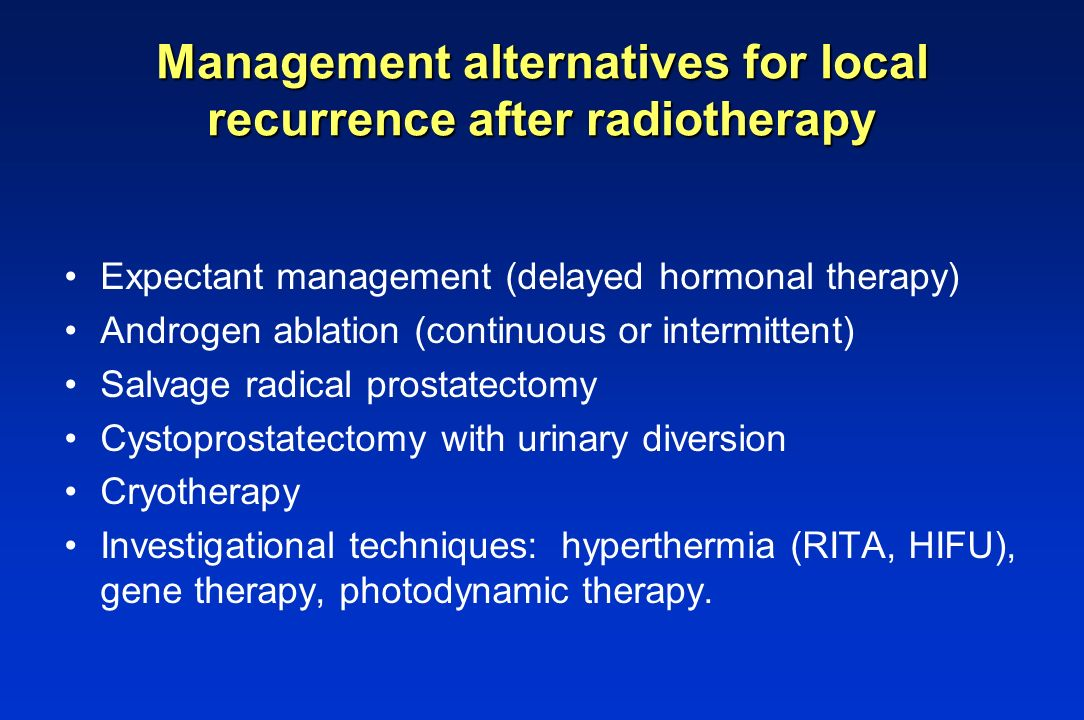 Management alternatives for local recurrence after radiotherapy