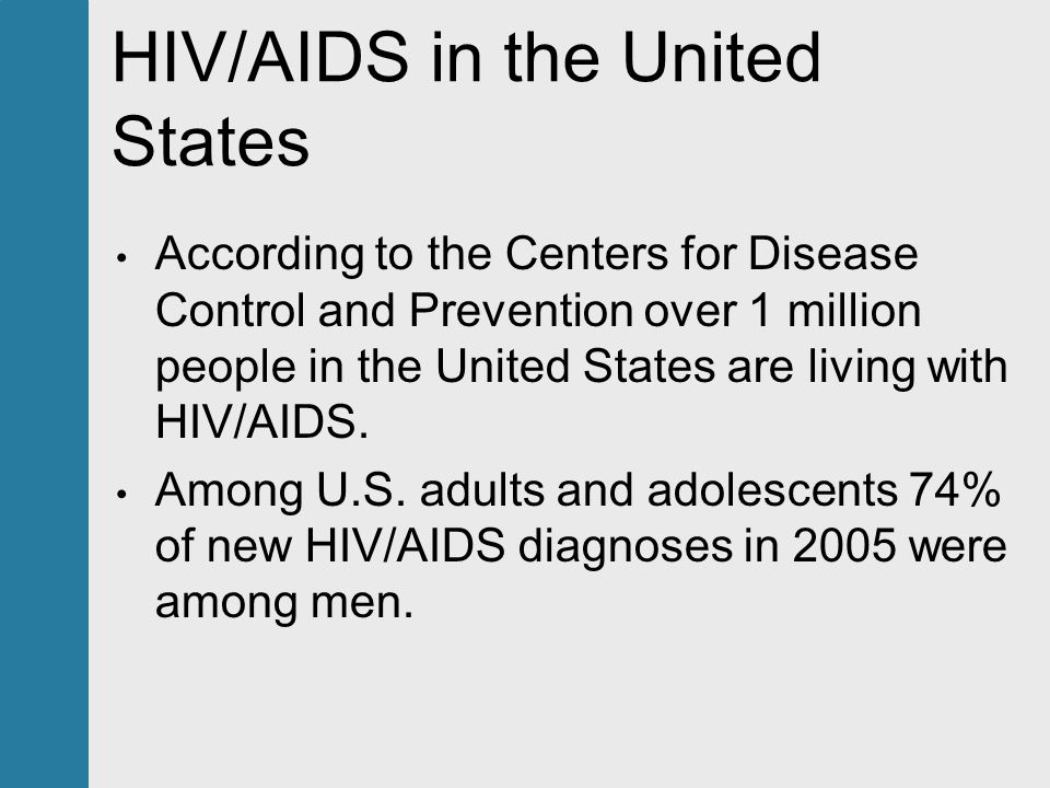 the problem of aids in the united states Aids was first recognized by the united states centers for disease control and prevention (cdc) in 1981 and its cause—hiv infection—was identified in the early part of the decade [21].