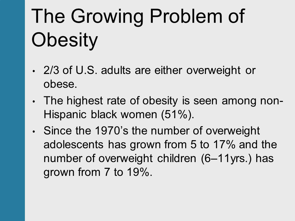 a look at the growing problem of childhood obesity A growing problem race, class and obesity  obesity has skyrocketed in women of all races, scientists began to realize that they had to look at other.