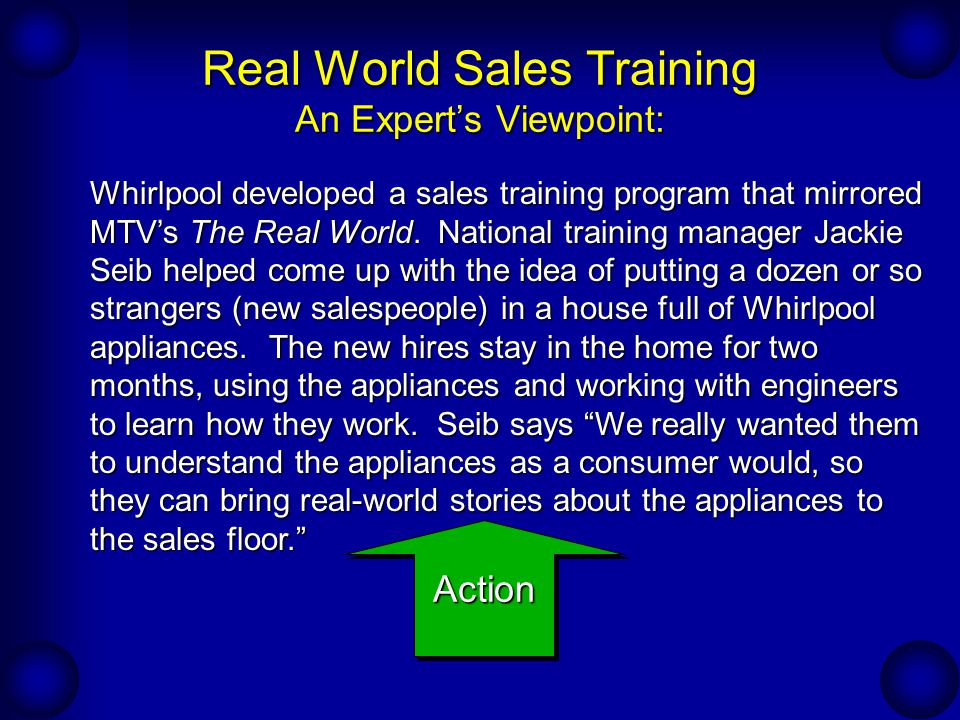 Continual Development Of The Sales Force: Sales Training - Ppt