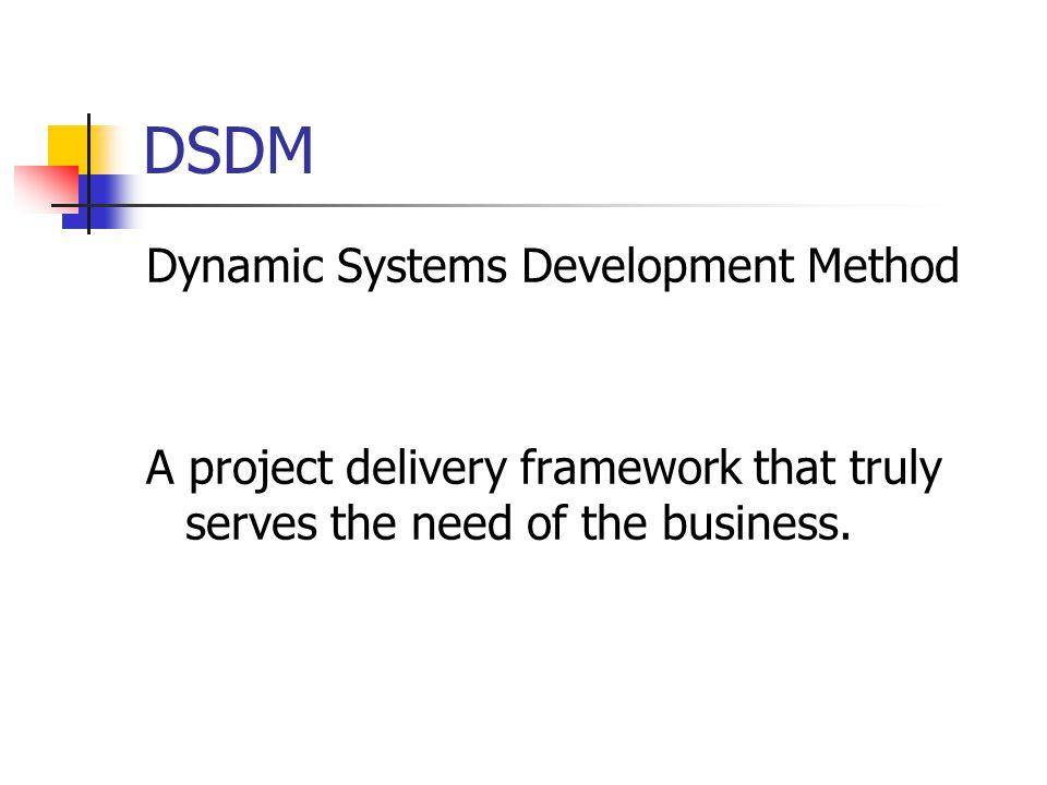 dynamic systems development method dsdm Agile scrum methodology lean and kanban software development extreme  programming (xp) crystal dynamic systems development method (dsdm).