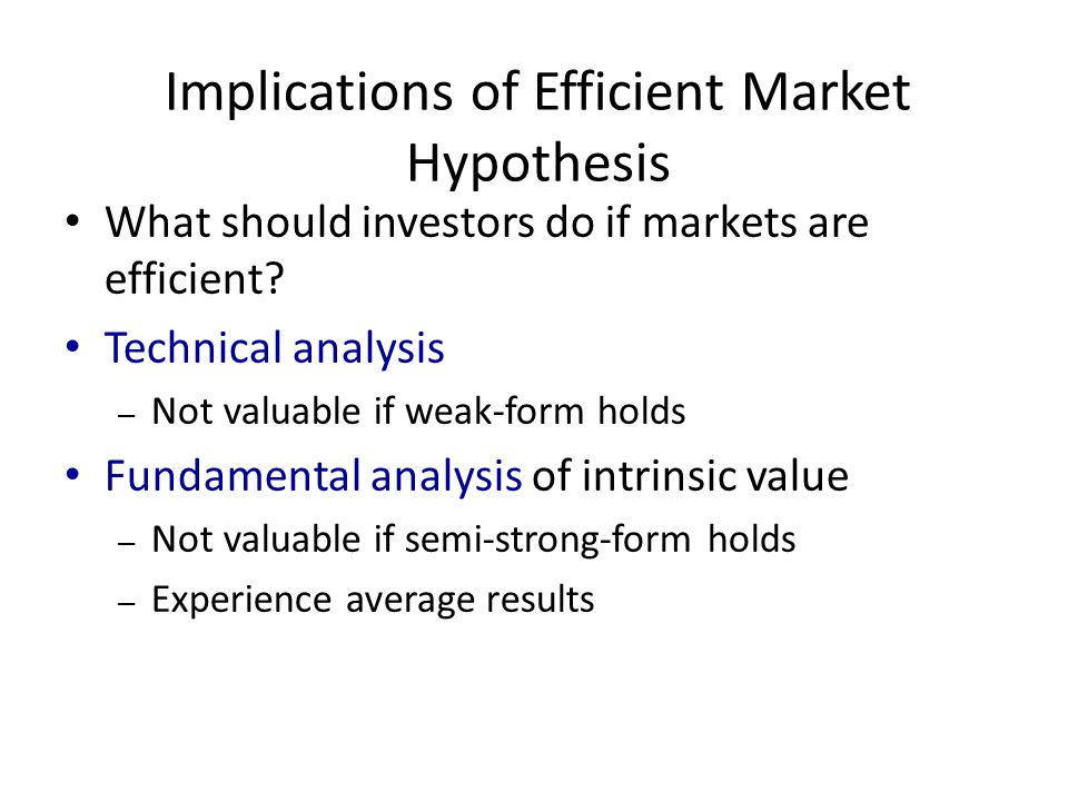 efficient market hypothesis and market anomaly The efficient market hypothesis (emh) asserts that, at all times, the price of a security reflects  information, despite some notable anomalies  these early theories about market efficiency motivated a number of empirical studies of prices in various asset markets chiefly focused on whether security returns were serially uncorrelated.