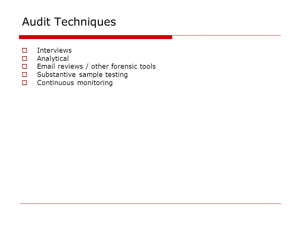 internal audit tools and techniques pdf