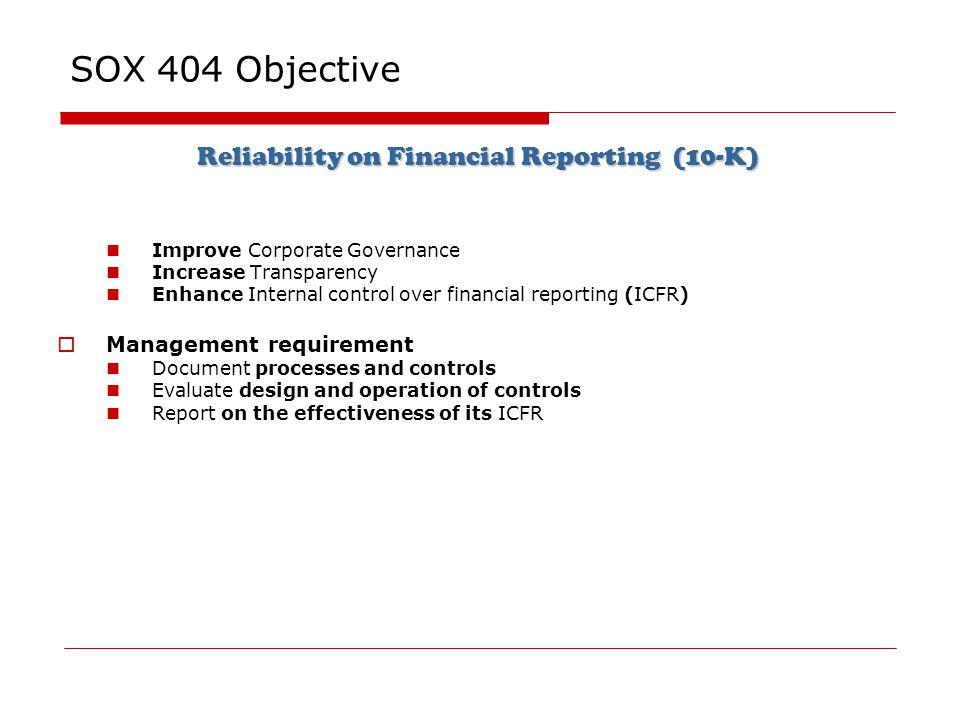 28 reliability - Sox Process Documentation