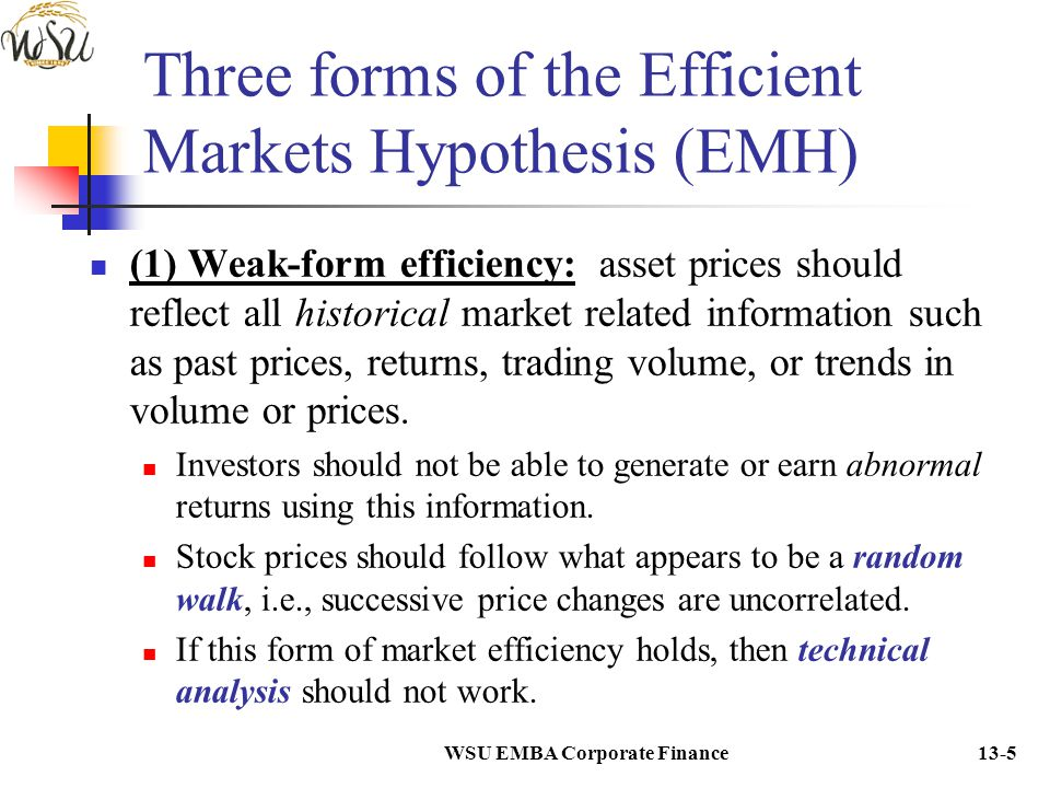 Chapter 13: The Efficiency of Capital Markets - ppt download