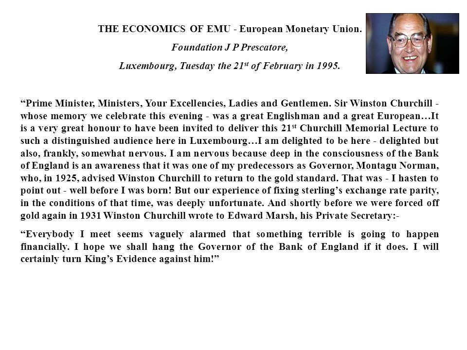 THE ECONOMICS OF EMU - European Monetary Union.