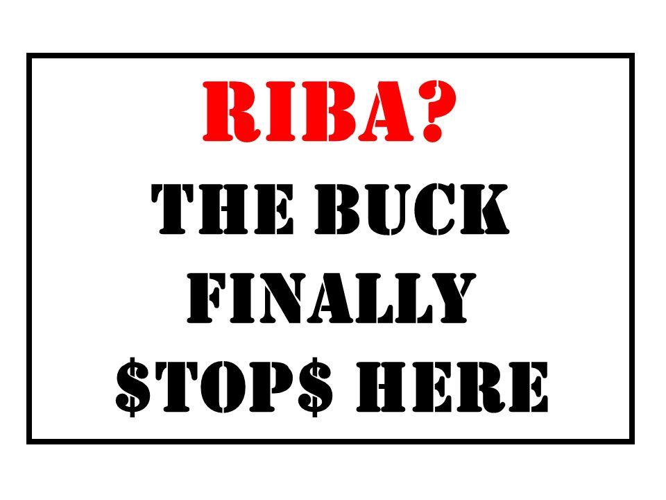 RIBA THE BUCK FINALLY $TOP$ HERE