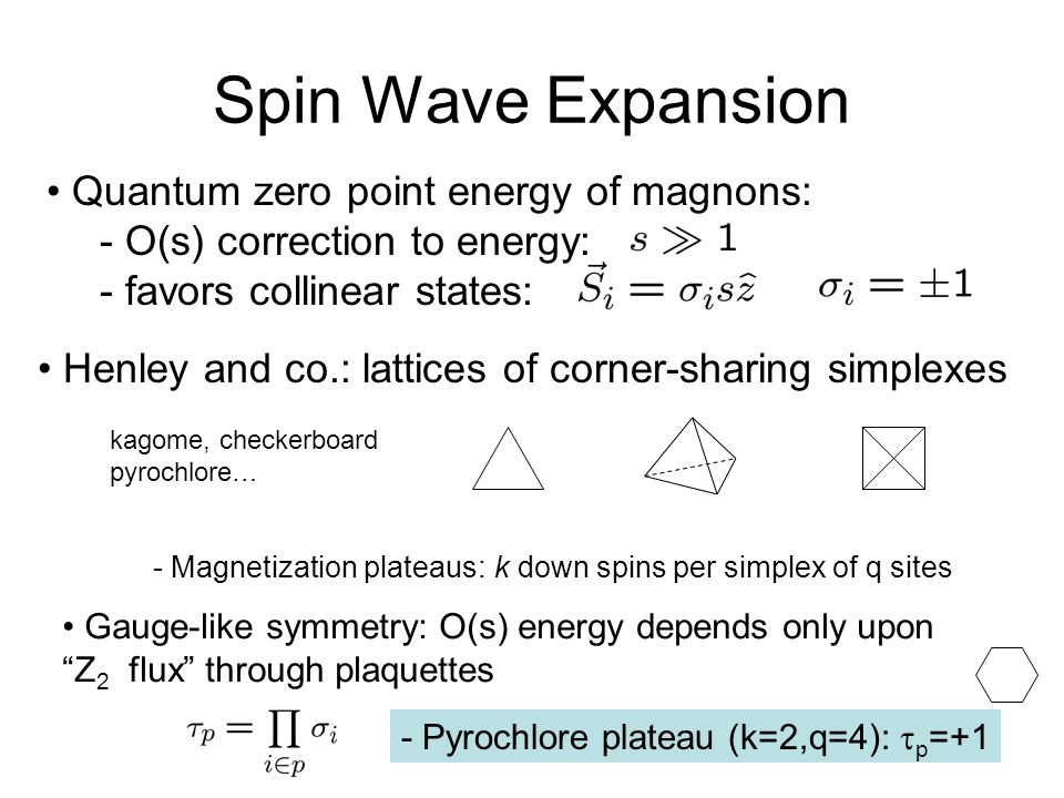 Spin Wave Expansion Quantum zero point energy of magnons: