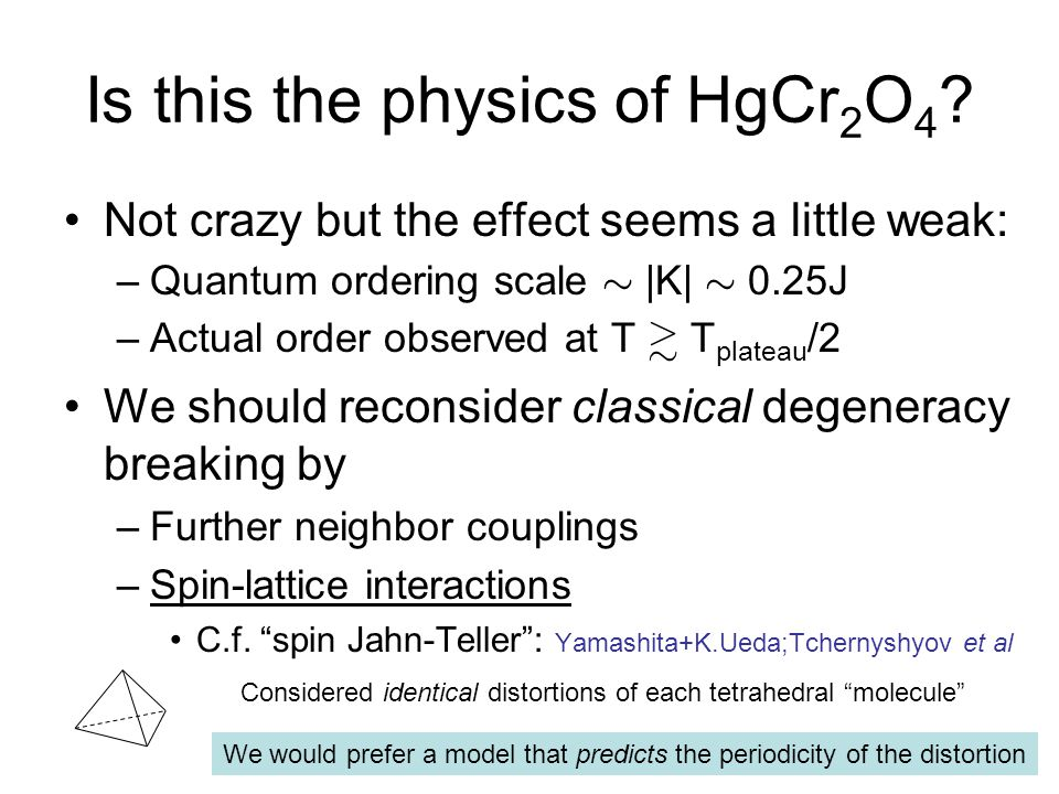 Is this the physics of HgCr2O4