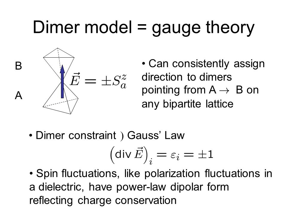 Dimer model = gauge theory