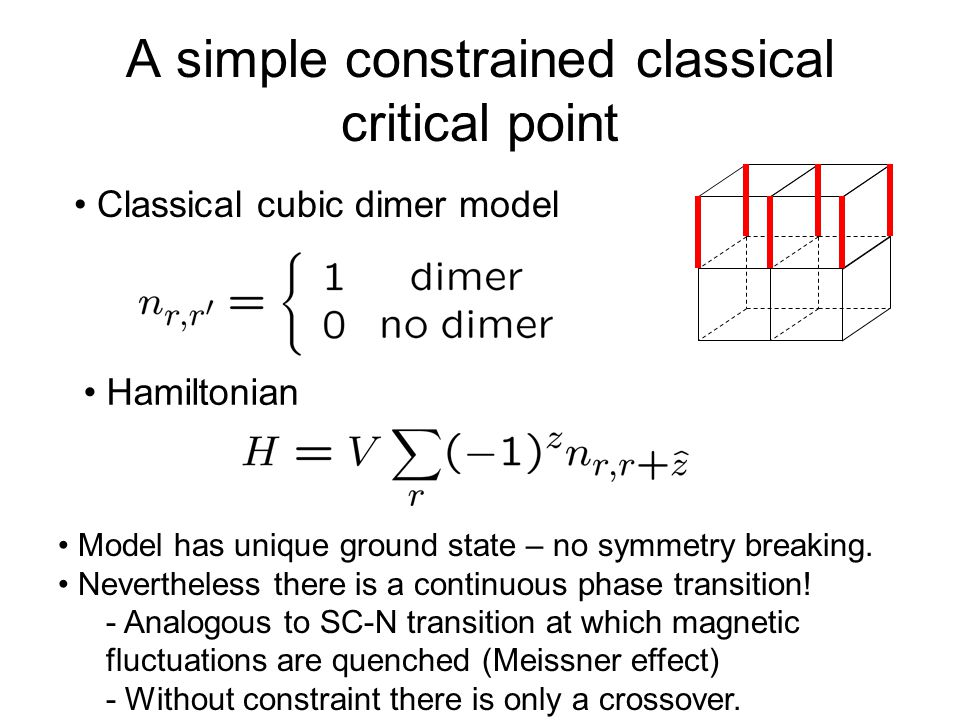 A simple constrained classical critical point