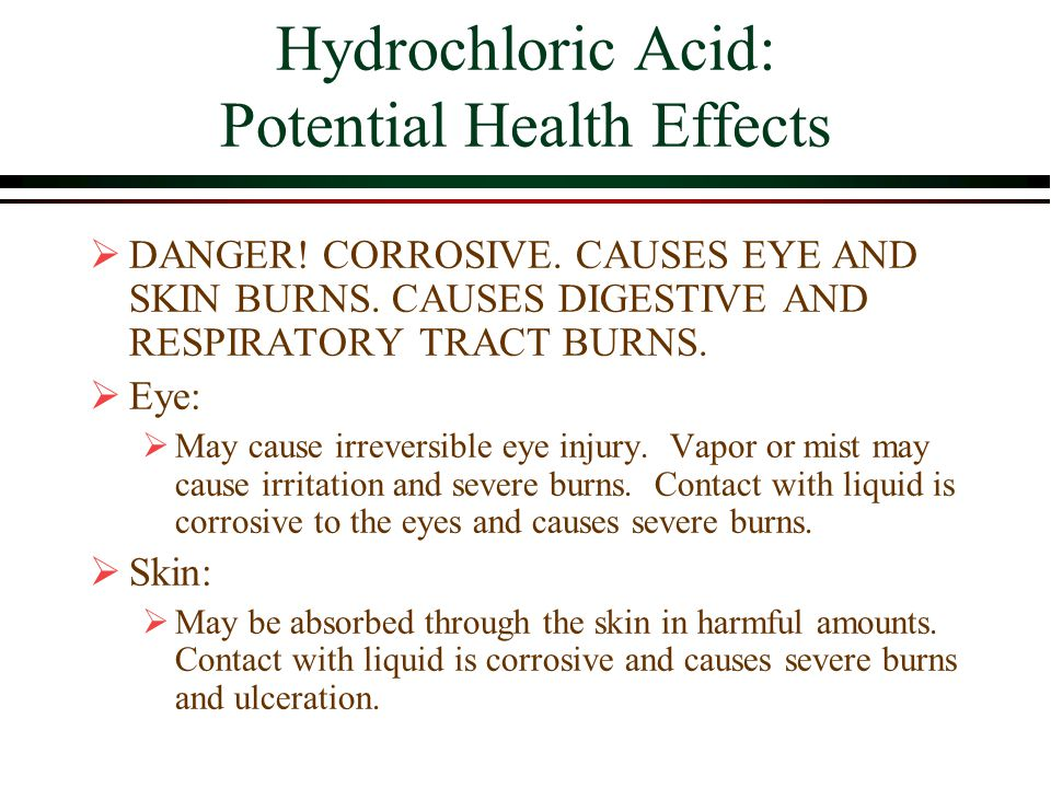 Hydrochloric Acid: Potential Health Effects