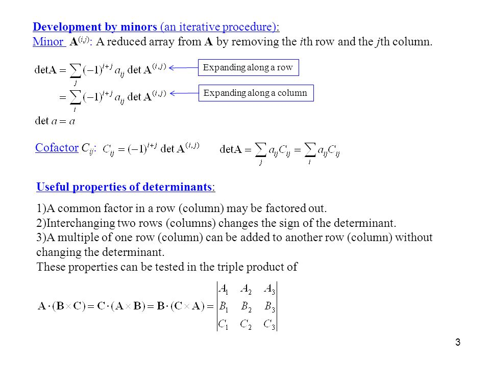 how to tell linear independence by determinants