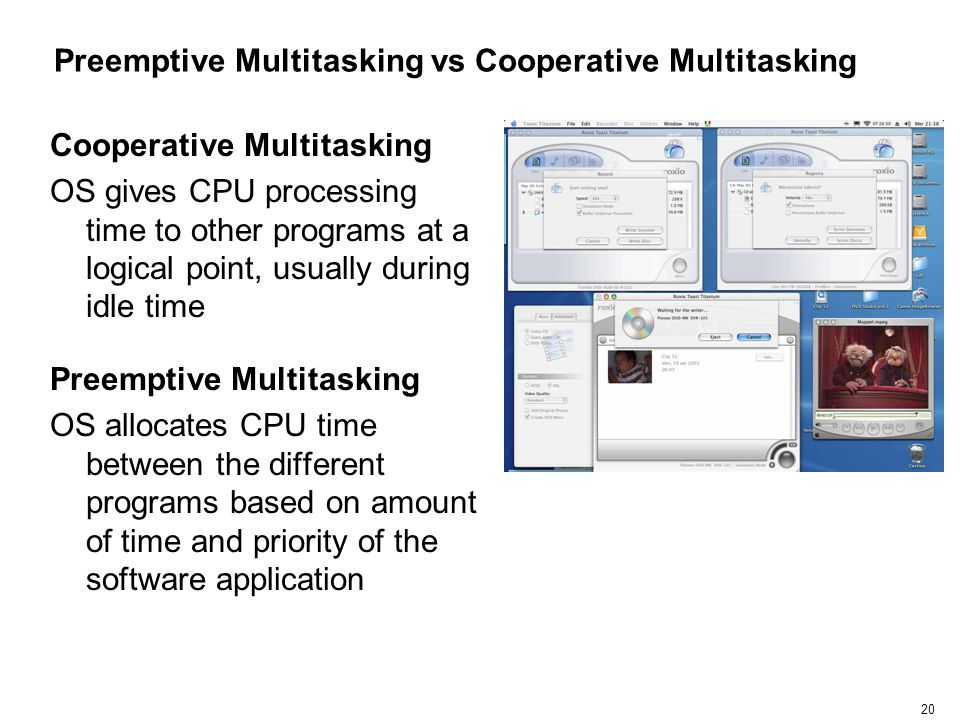 Preemptive Multitasking vs Cooperative Multitasking