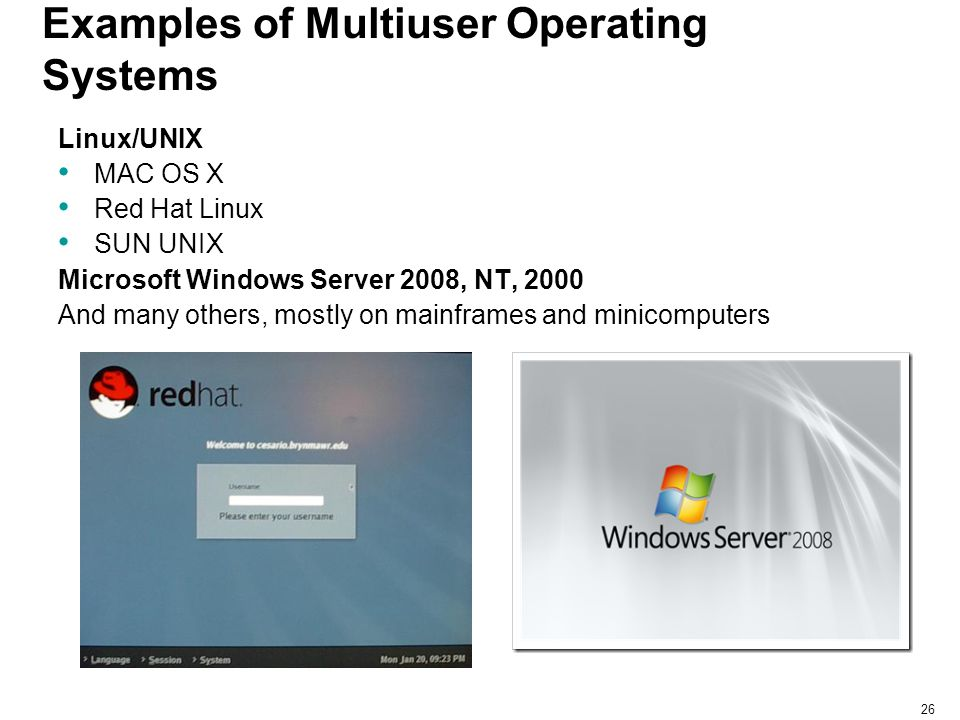 Examples of Multiuser Operating Systems