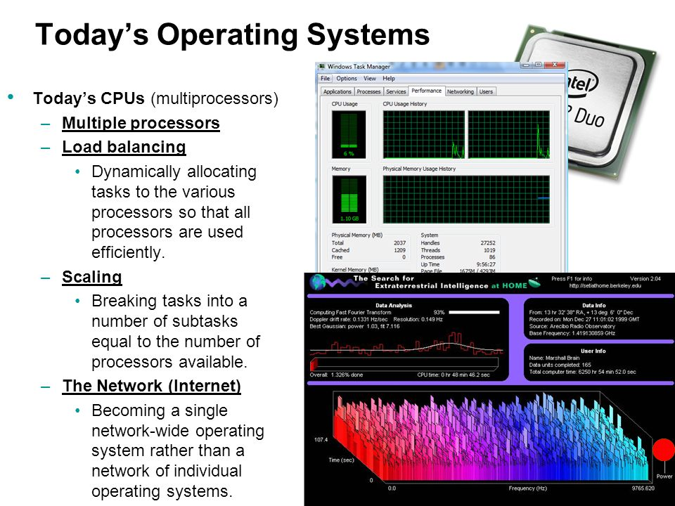 Today's Operating Systems