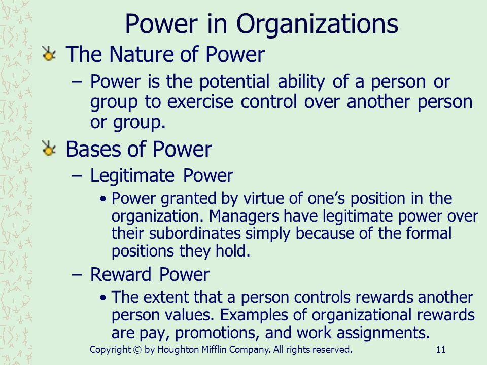 Power in Organizations