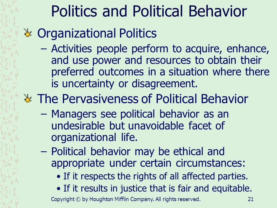 Politics and Political Behavior
