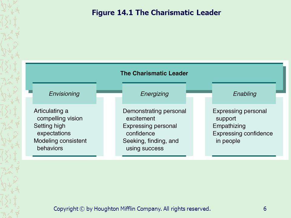 Figure 14.1 The Charismatic Leader