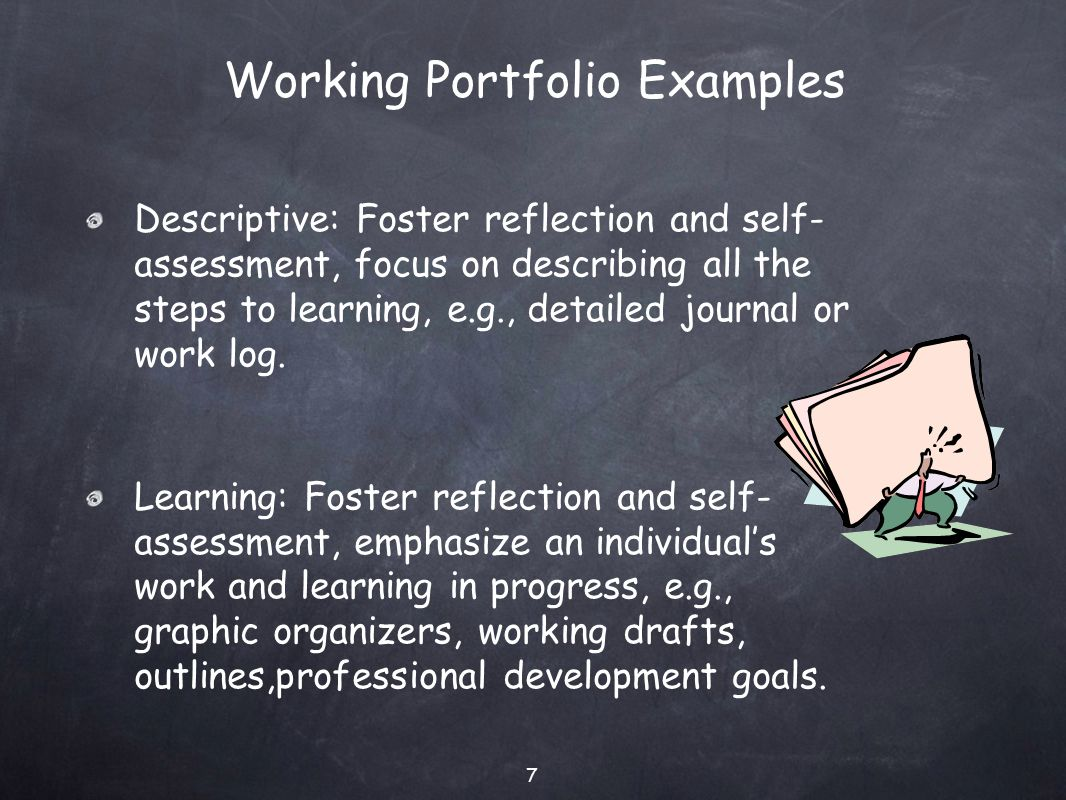 reflective portfolio self evaluation report Integral to your production of a portfolio is the process of reflection ultimately, self-reflection and dialogue with others will result in insights as to.