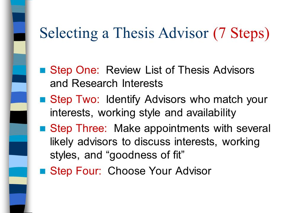 Selecting a Thesis Advisor (7 Steps)