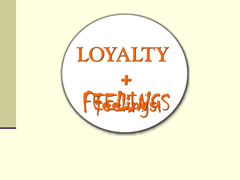 LOYALTY + FEELINGS feelings