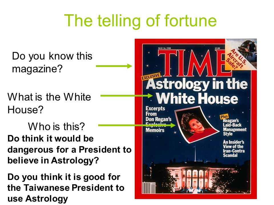 The telling of fortune Do you know this magazine