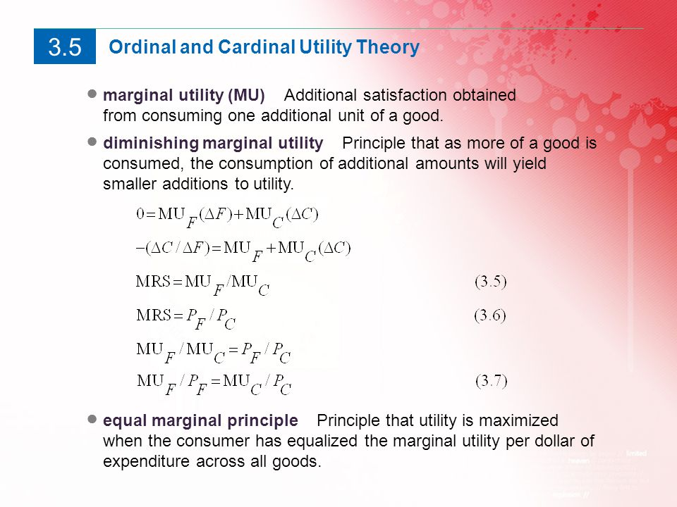 compare ordinal and cardinal utility Cardinal vs ordinal utility utility refers to the satisfaction that a consumer obtains from the purchase and use of commodities and services according to economics.