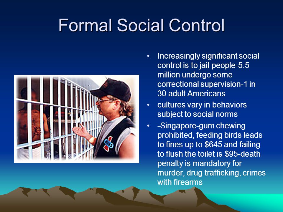 """formal and informal social control Drawing upon case studies on the type of white-collar offenders frequently called """"crisis responders"""", this article critically examines sampson and laubs general theory on informal social control."""